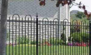 Black iron fencing