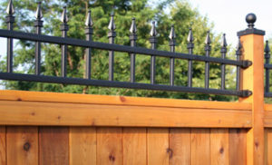 Wood and Iron fencing to add to your propety value