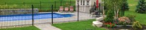Fencing around properties or pools are beautiful and effective