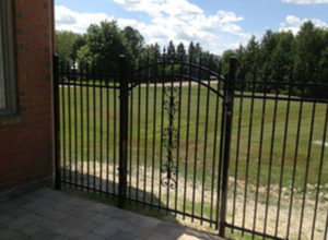Ornate wrought iron fencing adds property value